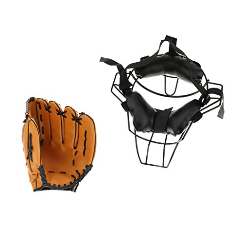 Dovewill Ultra Light High Strength Alloy Baseball Face Mask with Soft Durable Left Hand Glove 10.5'' by Dovewill