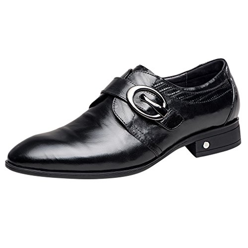 ZRO Men's Black Oxford Formal Business Dress Shoes with Buckle 8 M US by ZRO (Image #2)