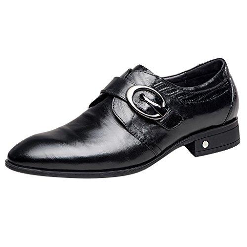 Zro Mens Oxford Formel Affaires Robe Chaussures Avec Boucle Noir