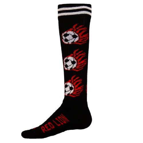 Sockup Flaming Soccer Socks Medium Black Only ()