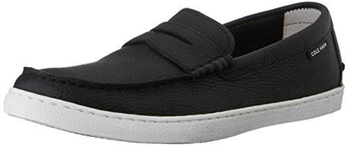 Cole Haan Men's Pinch Leather Weekender Loafer, Black Leather/White, 12 M US