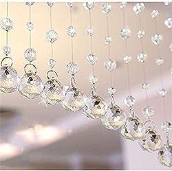 Clear Glass Crystal Beaded Curtain Door String