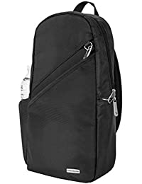 Anti-Theft Classic Sling Bag, Black, One Size