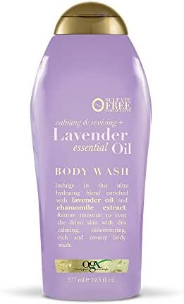 Body Washes & Gels: OGX Lavender Essential Oil Body Wash