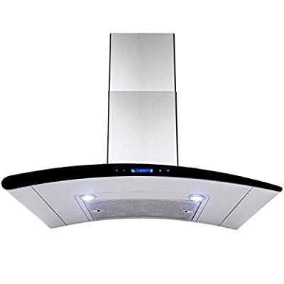 "AKDY New 36"" European Style Wall Mount Stainless Steel Range Hood Vent Touch Control AZ-198KN3 36"""