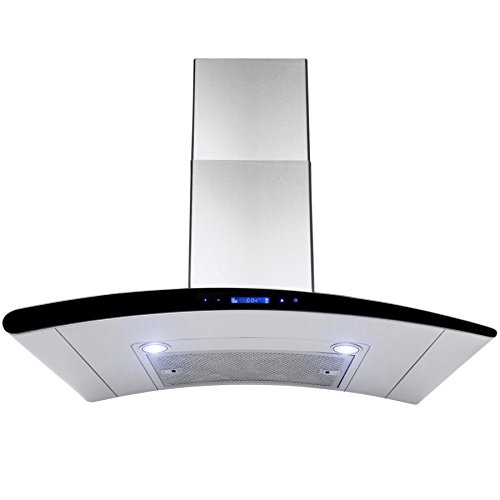 AKDY New 36″ European Style Wall Mount Stainless Steel Range Hood Vent Touch Control AZ-198KN3 36″
