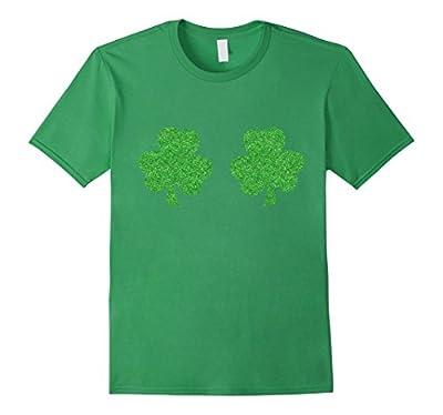 Irish Shamrock Boobs Funny St. Paddy's Day T-shirt
