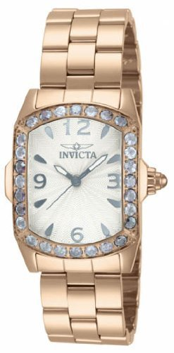 Invicta Lupah Crystal Rose Gold-tone Ladies Watch 14129