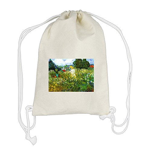 - Marguerite Gachet In Garden #2 (Van Gogh) Cotton Canvas Backpack Drawstring Bag