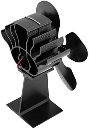 Generic 4ブレード熱い環境にやさしい燃料節約木材燃焼ストーブトップファン
