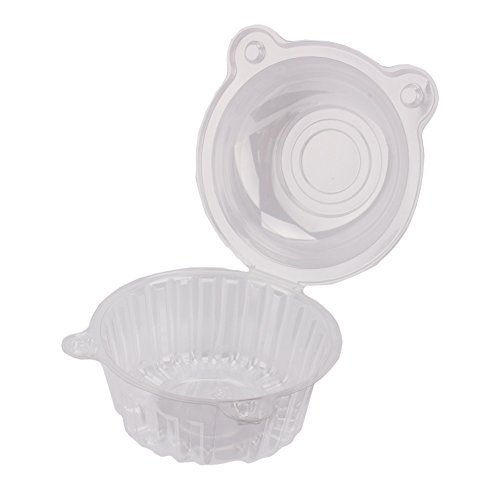 Yosoo Cake Boxes-100 Clear Plastic Single Cup Cake Boxes Holder Muffin Case Patty Container Cupcake Carriers Baking Cups by Yosoo