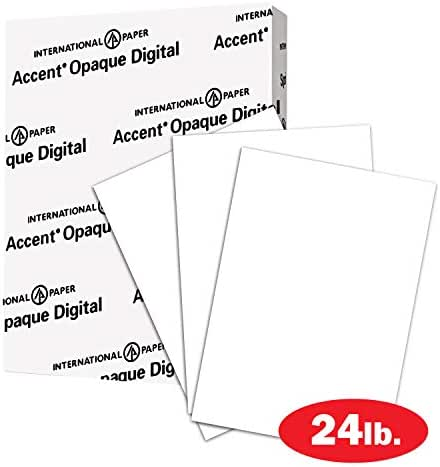 Accent Opaque White Paper, 24lb / 60lb Paper Text, 89gsm, 8.5 x 11, 3 Hole, 97 Bright, 1 Ream / 500 Sheets - Smooth, Text Heavy Paper (131128R)