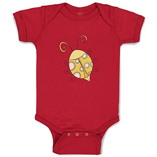 Custom Boy & Girl Baby Bodysuit Yellow Ladybug Funny Cotton Baby Clothes Garnet Design Only Newborn
