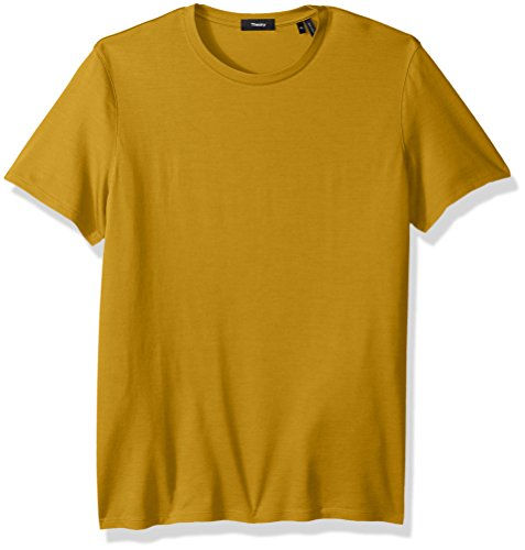 Theory Men's Dressy Silk Blend Crew Neck T-Shirt, Gobi, L