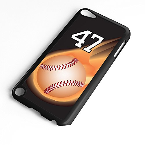 iPod Touch Case Fits 6th Generation or 5th Generation Baseball #3200 Choose Any Player Jersey Number 47 in White Plastic Customizable by TYD Designs ()