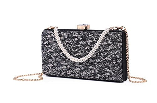 NVBAO Wedding Embroidery Women Vintage Dress Evening Clutch Black Bags Tassel Shoulder Party rrq7fSx