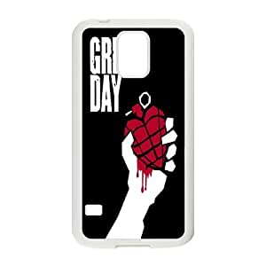 Green Day Samsung Galaxy S5 Cell Phone Case White kfui