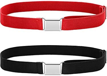Kids Buckle Belt Adjustable Elastic Belt Kid Stretch Belt for Children Favor (2 Color Set 5)