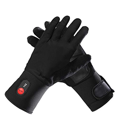 SVR Unisex Touchscreen Rechargeable Electric Battery Heated Cycling Thin Gloves Liners for Men Women Hand Warmer ()