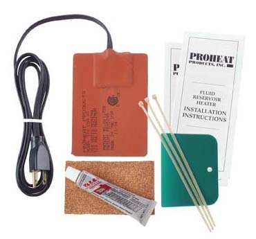 Proheat Heavy Duty Fluid Reservoir Heater Model 512-220 (250 Watts, 1 Amp, 220 Volts) Ideal for Oil Pans from 1 to 3 Gallon of Lube (4.5 to 12 Litres) and up to 10 to 30 Gallons of Hydraulic Oil ()