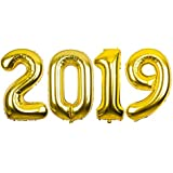"AimtoHome 40"" 2019 Shape Foil Mylar Balloon Gold Balloons - Balloons for Birthday Party & Wedding Decoration"