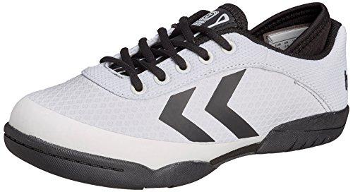 Hummel HUMMEL ROOT PLAY LACE JR - Zapatillas deportivas para interior de material sintético Niños^Niñas blanco - Weiß (White 9001)