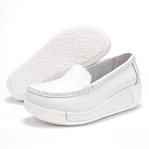 Y Slope Documental El Madre Khskx Otoño Zapatos Gruesa Enfermera Forty Casuales De la Superficial Suela Hembra Cuarenta Muffin Primavera Boca Cuero qw0x0gEnpY