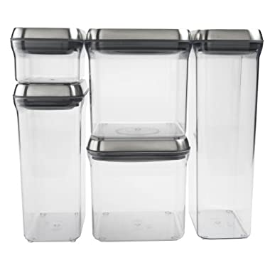OXO SteeL 5-Piece Pop Container Set
