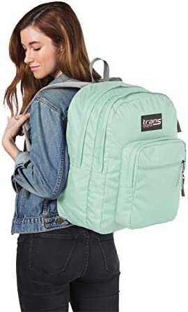 Trans by JanSport 17 SuperMax Backpack with 15 Laptop Sleeve Aqua Dash