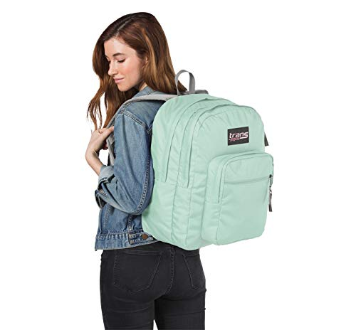 "Trans by JanSport 17"" SuperMax Backpack with 15"" Laptop Sleeve (Aqua Dash)"