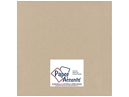 Cardstock 12 x 12 in. #304 Recycled Kraft (250 sheets) by Paper Accents