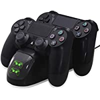 Dual Controllers Charging Dock Charger Station Gamepad Stand for PS4