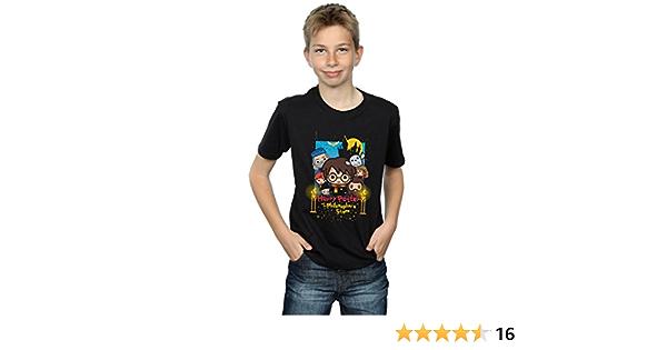 HARRY POTTER niños Philosophers Stone Junior Camiseta 9-11 Years Negro