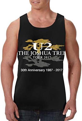 U2 The Joshua Tree メンズ ボディービル タンク 袖なしク シャツ 涼しく 迅速な乾燥