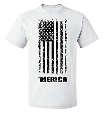 Fourth of July American Flag Graphic Design T-Shirt
