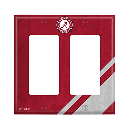 Alabama Light Switch Cover (Alabama Crimson Tide Double Rocker Light Switch Cover NCAA)