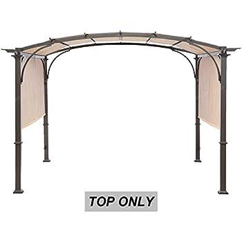 Amazon Com Steel Pergola Gazebo With Retractable Canopy