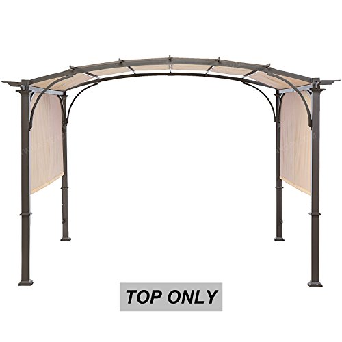 MASTERCANOPY Universal Doubleton Steel Pergola Replacement Cover for Pergola Structures 80''x 205''beige(cover only by MASTERCANOPY