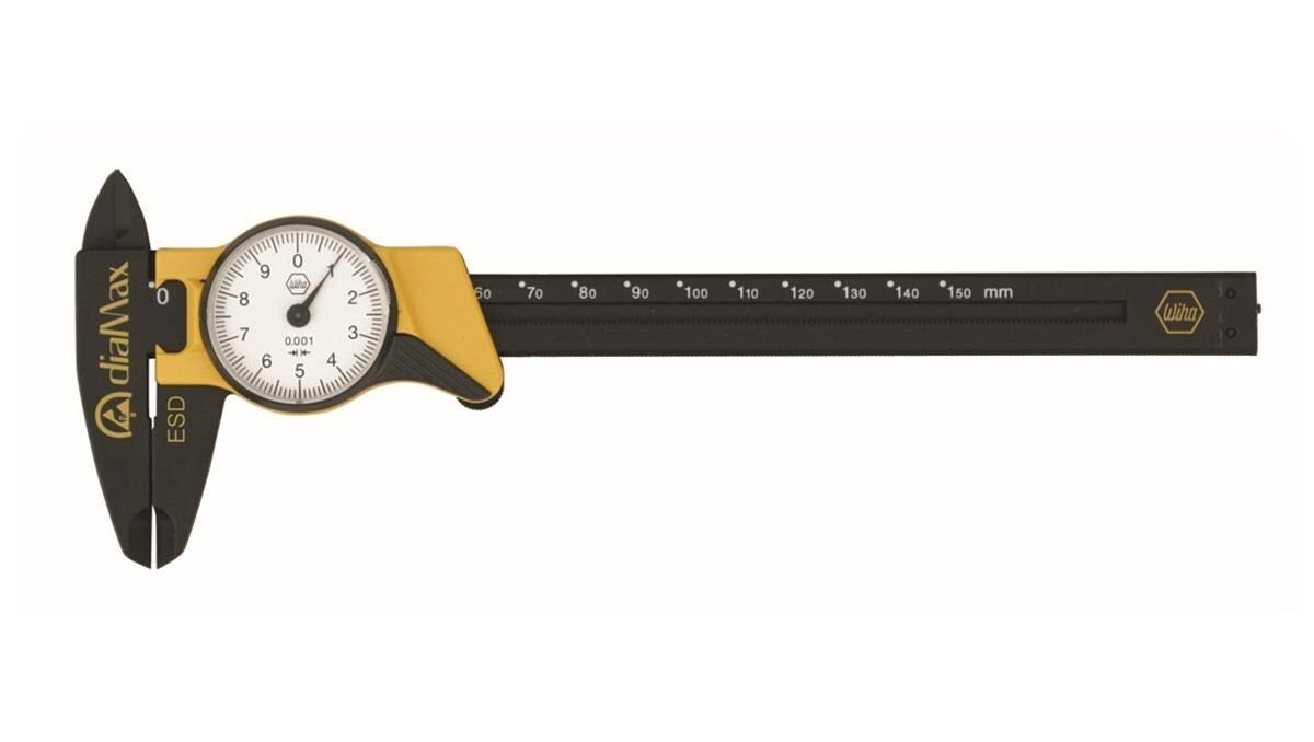Wiha 41106 ESD Safe Dial Calipers Metric 6 Length