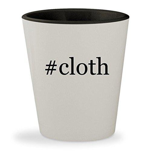 #cloth - Hashtag White Outer & Black Inner Ceramic 1.5oz Shot - Black Jennifer Dress Lopez