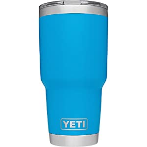 YETI Rambler 30 oz Stainless Steel Vacuum Insulated Tumbler with Lid (Tahoe Blue)