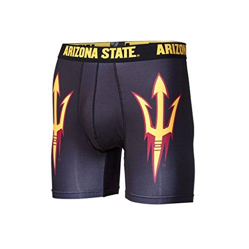 Arizona State Sun Devils Rug - Fandemics NCAA Men's Boxer Brief, Black, X-Large (40-42)