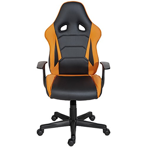 41Li%2B740 9L - ModernLuxe-Racing-Style-Gaming-Chair-Soft-PU-Leather-and-Mesh-Fabric-Task-Chair-Orange