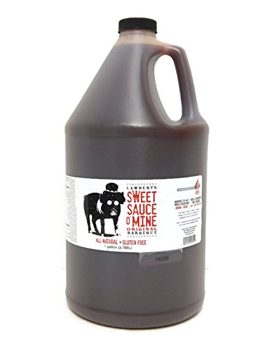 Price comparison product image Lambert's Sweet Sauce O' Mine 1 Gallon Jug Original BBQ Sauce
