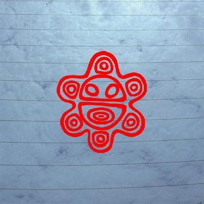 SOL TAINO DECOR DIE CUT LAPTOP RED DECORATION ART WALL ART NOTEBOOK CAR STICKER CAR BIKE by ()