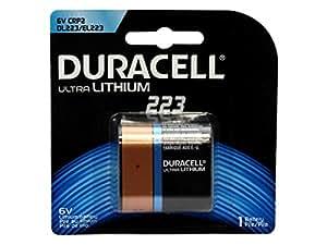 Duracell Ultra Photo 223 Litio 6V batería no-recargable - Pilas (Litio, Petaca, 6 V, 1 pieza(s), 1400 mAh, Negro, Marrón)