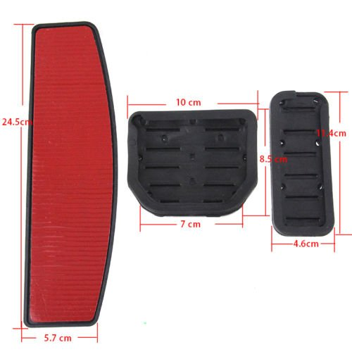 AT No Drill Gas Brake Pedal Stainless Steel Anti-slip Accelerator Brake Pedal Cover Fits Discovery 3+4 A alloy brake covers