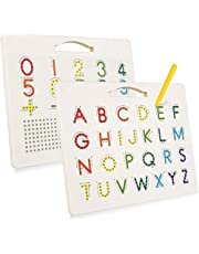 Dreampark Magnetic Alphabet Tracing Board for Children, Uppercase Magnetic Letter Board Learn Alphabet, ABC Magnetic Drawing Board Letter and Number Tracing Board for Kids Toddlers