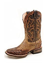 Stetson Western Boots Womens Wingtip Orange 12-021-8861-0720 OR