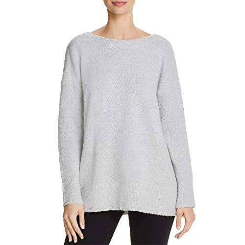 French Connection Womens Wool Scoop Back Pullover Sweater Gray S -